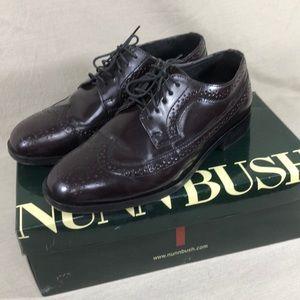 NunnBush Men's Burgundy Wingtip/Brouges Oxfords